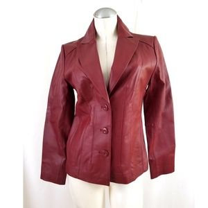 East 5th Size S Red Leather Jacket